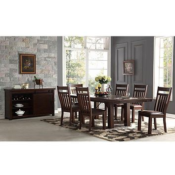 1158 Acacia Dining Table With 6 Chairs