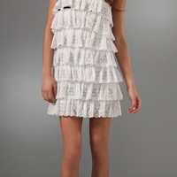 RED Valentino Tiered Ruffle Dress