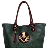 Evergreen Ostrich Shopper-xl Thistle