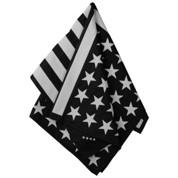 American Flag Bandana (Black and White)