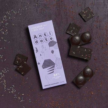 Antidote Chocolate - Panekeia: Lavender + Red Salt 84% with slow roasted cacao