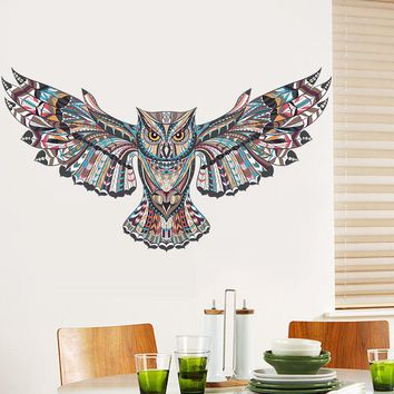 % Cartoon Owl Animal Children Baby Bedroom Wall Sticker For Kids Rooms Eagle Hawk Wall Painted Tatoo Home Decor Art Decals