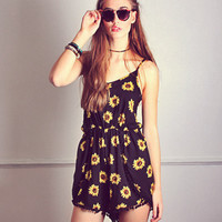 Roll in Sunflowers Playsuit