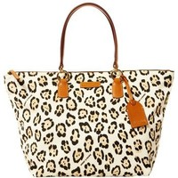 Dooney & Bourke Material Large Tulip Shopper, Leopard/Natural