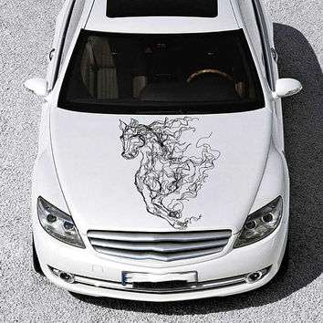 horse car hood decal horse Car Decals horse Car Truck horse Side Body Graphics Decal horse Sticker for car kikcar49