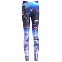 NEW 3690 Sexy girl women Star Wars galaxy aircraft airship droid R2D2 3D prints Polyester elastic fitness Leggings pants