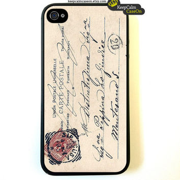 Vintage Italy Postcard Iphone Case iPhone 4 Case by KeepCalmCaseOn