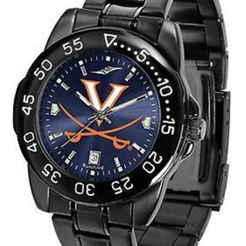 Virginia Cavaliers Mens Watch Fantom Gunmetal Blue Dial
