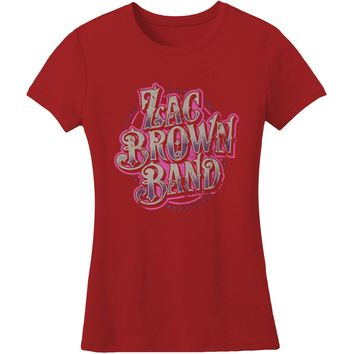 Zac Brown Band  Logo Junior Top Vintage