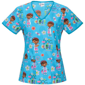 Doc McStuffins TLC Scrub Top For Women