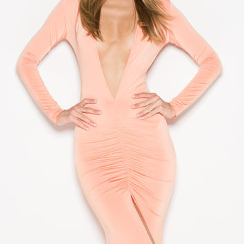 CLIO GOWN IN PASTEL ORANGE