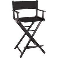 Lightweight All Black Aluminum Makeup Artist Director Chair