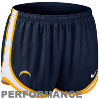 Nike San Diego Chargers Women's Tempo Performance Running Shorts - Navy Blue