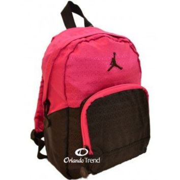 Nike Air Jordan Black and Pink Preschool Girl Backpack at OrlandoTrend.com