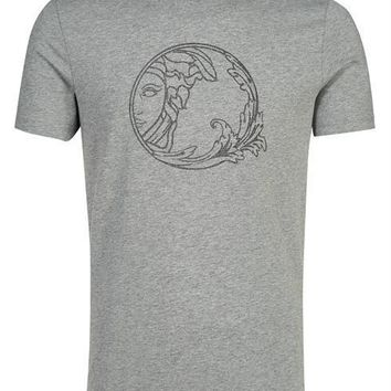 VERSACE COLLECTION T-shirt V800683S VJ00277 grey 100% Cotton