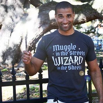 Muggle In The Streets, Wizard In The Sheets T-Shirt | SnorgTees