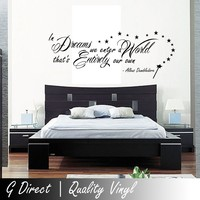 Harry Potter In Dreams we enter Dumbledore Wall Sticker Vinyl Quote for Bedroom