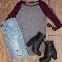 Lucinda Top - Burgundy