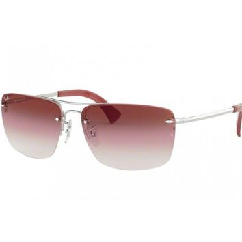 sunglasses authentic Ray Ban RB3607 clip headphone burgundy gradient 91280T