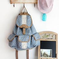 Vintage Polka Dot With Lace Backpack