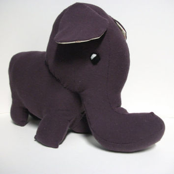 Plush Elephant Ecofriendly Marilla by RopeSwingStudio on Etsy