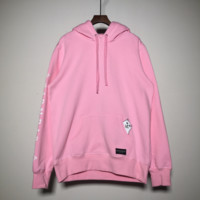 RIPNDIP Harajuku trend brand men and women hooded couple pocket long-sleeved sweater hooded middle finger cheap cat Pink