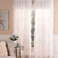 Gypsy Ruffled Window Curtain