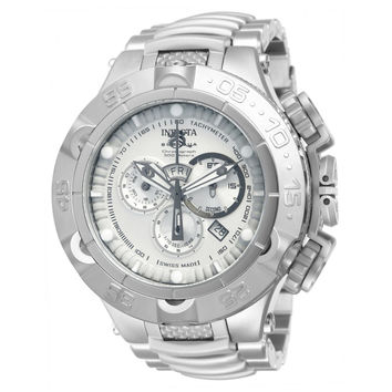 Invicta 12886 Men's Subaqua Noma V Silver Dial Steel Bracelet Chronograph Dive Watch