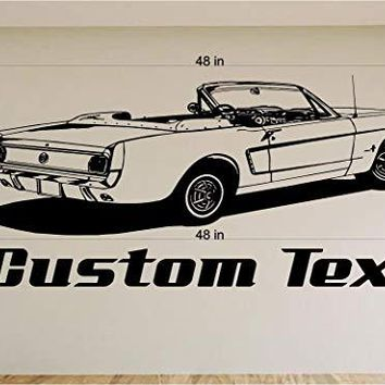 Ford Mustang Car Wall Decals Stickers Graphics Man Cave Boys Room Décor