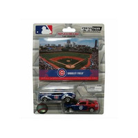 2 Pack Ford Mustang With Ballpark Card -Chicago Cubs
