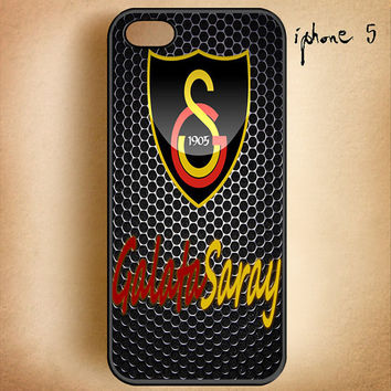 Galatasaray-Team-Logo-Design On Hard Plastic Cover Case, IPhone 4,4S or IPhone 5 Case, Samsung Galaxy S2,S3 or S4 Case