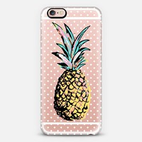 Pastel Party Pineapple White Polka Dots  iPhone 6s Plus case by Organic Saturation | Casetify