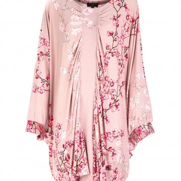 Pink Blossom Batwing Jersey Tunic | Tops | Citra Style | USA