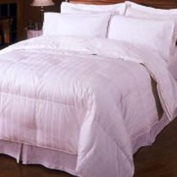 Stripe Goose Down Egyptian cotton King-CalKing comforter