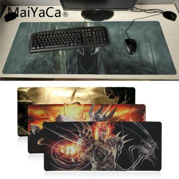 MaiYaCa boy gift Sauron The Lord of the Rings Anti-Slip Durable Silicone Computermats Locking Edge Rubber Large Mousepads