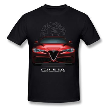Alfa Romeo T Shirt 2018 Man's New Arrival Car Homme Tees Shirt Pure Cotton Male Nice Short-sleeved Camiseta