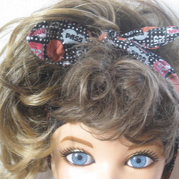 Hair Scarf, Bandana, Hair Bandana, Bandana Headband,  BasketBall Head Band, Hair Band, PinUp Bandana, Knotted HairBand, Boho Head Band