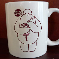 big hero 6 disney baymax hairy baby Mug front 11 oz White Ceramic Mug custom mug coffee and tea