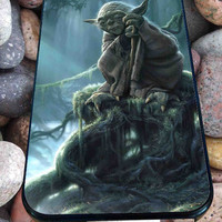 Star Wars Yoda Art for iPhone 4/4s, iPhone 5/5S/5C/6, Samsung S3/S4/S5 Unique Case *76*