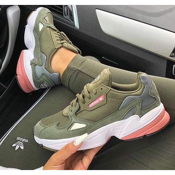 Adidas Falcon Fashion Women Men Casual Sport Running Shoes Sneakers Green