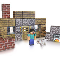 J!NX : Minecraft Paper Craft Shelter Set