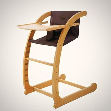 Free Shipping-Sleek Firm Multi functional Wooden baby high chair Ergonomic Kneeling, Rocking Computer Posture Chair
