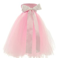 Topwedding Satin Sash Kids Dream Tulle Flower Girl Dress Infant Little Girl