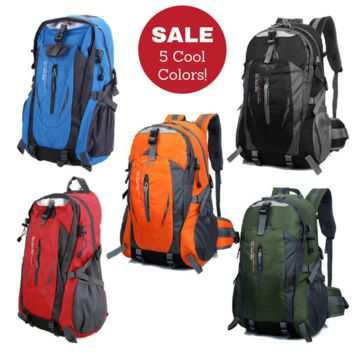 Waterproof High Quality Durable Backpack for Women & Men... Great for Climbing, Hiking, Travel, Work & School!