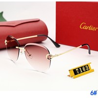 Cartier Fashion Ladies Delicate Summer Sun Shades Eyeglasses Glasses Sunglasses 6#