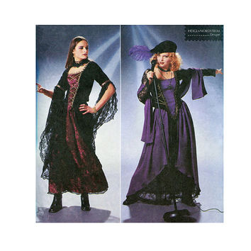 MEDIEVAL CORSET DRESS Pattern Goth Renaissance Bar Wench Costume Historical Reenactment Simplicity 8750 Bust 34 36 38 UNCuT Sewing Patterns