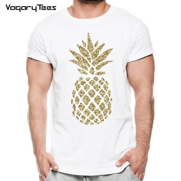 Summer Pineapple Men T-Shirt Fashion Hawaii style Pineapple Design Short Sleeve Casual Tops Hipster Male T Shirts Funny Cool Tee