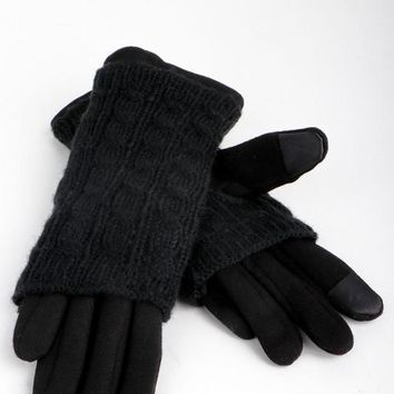 Trina 2-in-1 Gloves in Black
