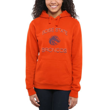 Boise State Broncos Women's Fade To Victory Pullover Hoodie – Orange