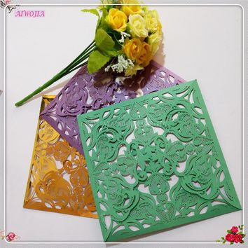 Invitations Card Table Name Place Cards Laser Cut Wedding Party 10pcs/Lot Favor Decor Wedding Decoration Supplies 8z